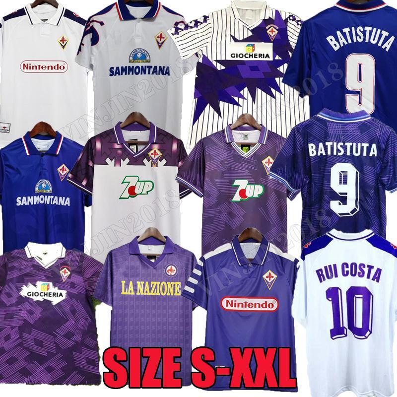 1991 1992 Fiorentina Retro Soccer Jerseys 1993 1998 1999 Gabriel Football Shirts 89 90 91 92 93 94 95 96 97 98 99 00 Batistuta Rui Costa Oryms خمر Maglia da Calcio