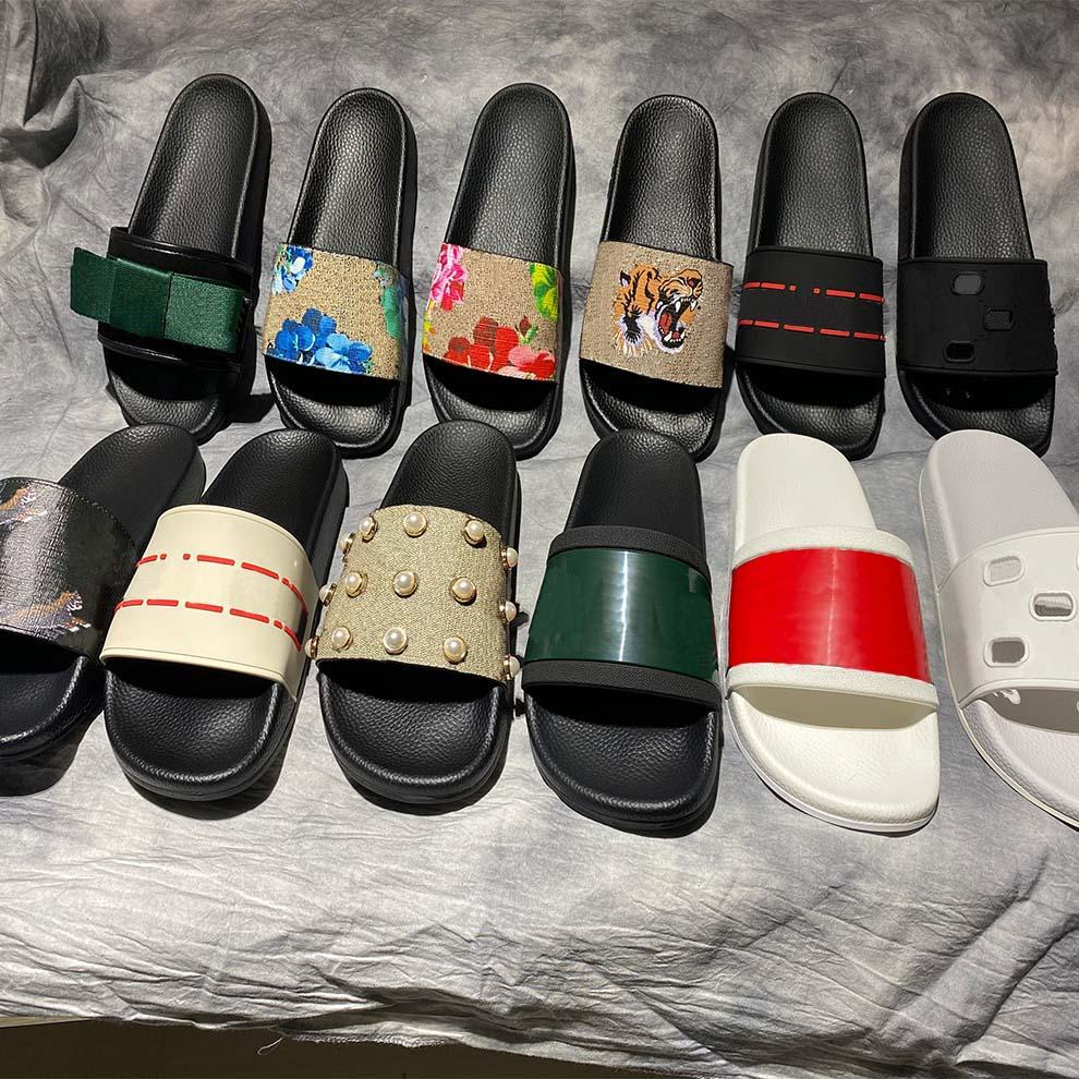 Alta qualidade elegante chinelos tigres moda clássicos slides sandálias homens mulheres sapatos tigre gato design verão huaraches home011 2