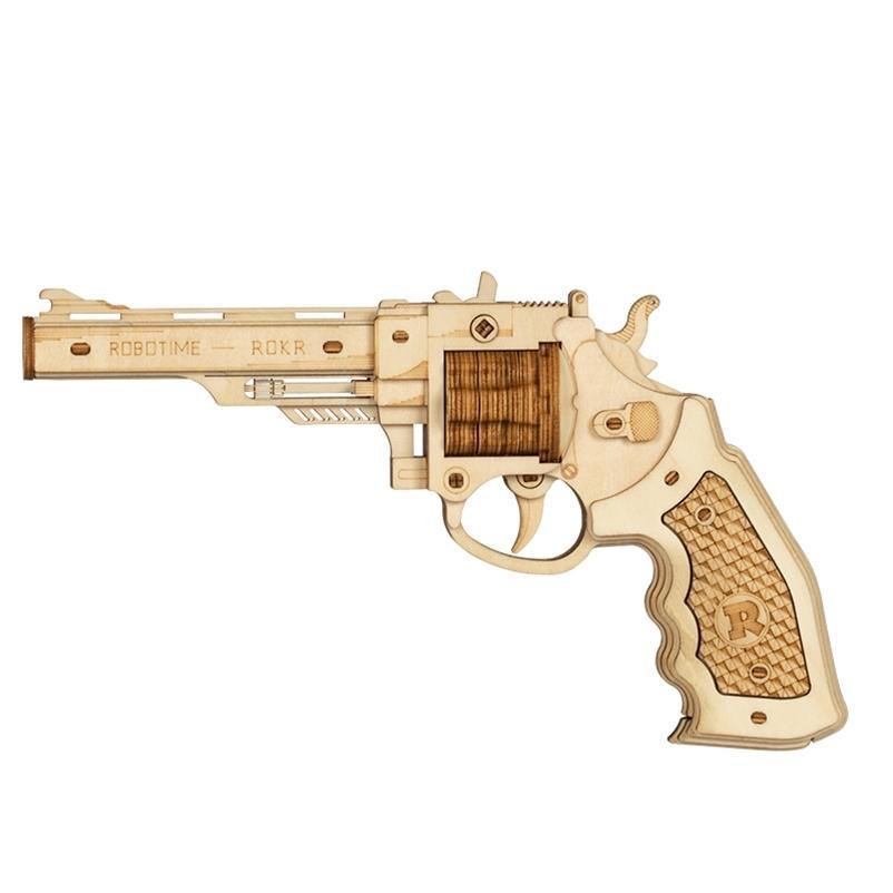 Robotime 3d quebra-cabeça de madeira de borracha de borracha armas de justiça Guarda brinquedo corsac m60 para adolescentes engraçados outdoors jogo shooter presentes lq401 210330