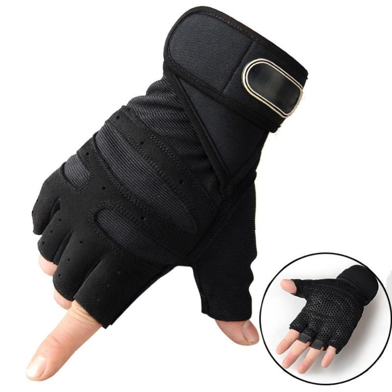 Cycling Gloves Weightlifting Men/Women Half Finger Gym Workout Training Bodybuilding Dumbbell Fitness Hand Protector