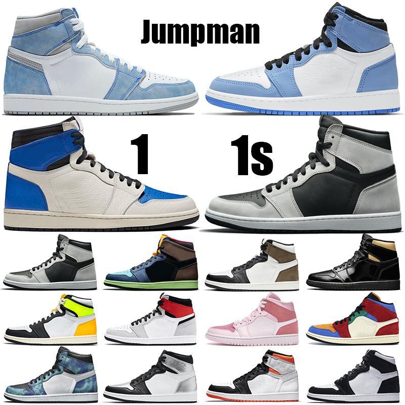 1S Zapatos de baloncesto para hombre Jumpman 1 Hyper Royal University Azul Rust Sombra Electro Naranja Negro Mocha Entrenadores para mujer Deportes Zapatillas Tamaño 36-47