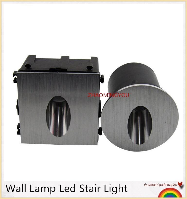 벽 램프 LED 계단 빛 알루미늄 3W 오목한 단계 조명 경로 모서리 램프 AC85-265V 야외