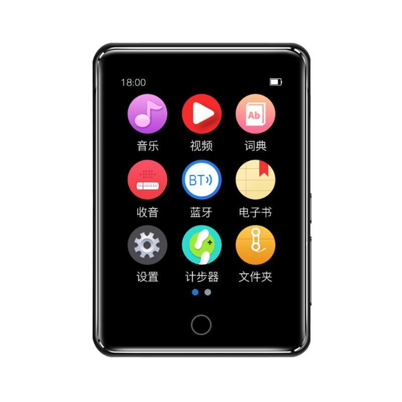 """Bluetooth MP3 player 2.8 """"Tela de toque completo portátil mini hifi música fm rádio pedômetro vídeo mp4 jogadores"""