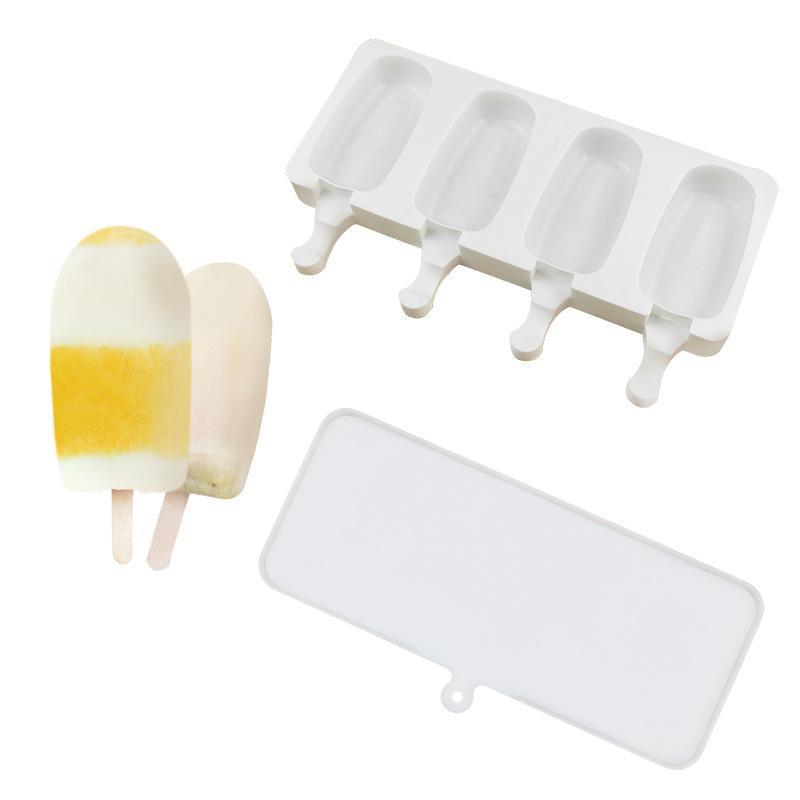 DIY Popsicle Mold Comida Grau Branco Silicon Silicone Moldes Crianças Adultos Casa Ao Ar Livre Cozinhar Cozinha Ferramentas CPA3421