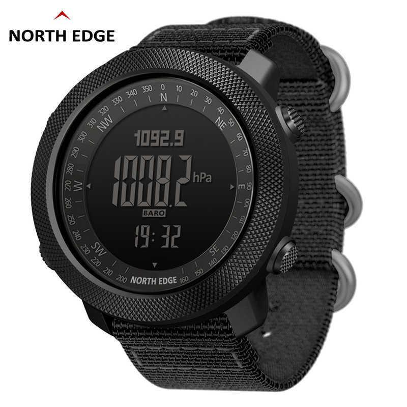 شمال حافة الرجال الرياضة الساعات الرقمية ساعات الجري السباحة الجيش العسكرية الساعات الارتفاع بارومتر البوصلة للماء 50 متر 210630