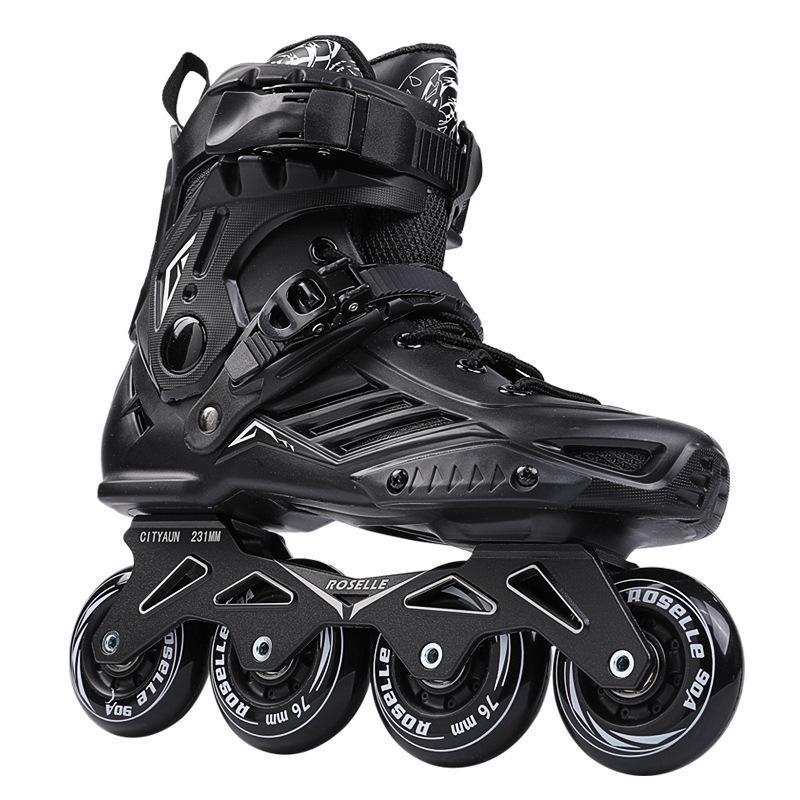 인라인 롤러 스케이트 성인 트레이너 스케이트 신발 바퀴 블레이드 쿼드 피겨 스포츠 장비 BI50SS
