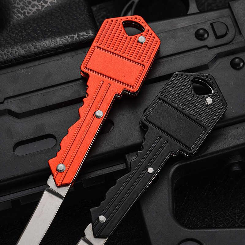 Knife 2021 key Shape Multifunctional Mini Folding Fruit Outdoor Saber Swiss Self-defense Knives EDC Tool Gear WLL2 8CN2