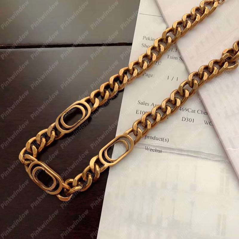 2021 سلاسل قلادات المرأة المختنق montaigne قلادة رجل مصمم مجوهرات الرجال الفضي المصممين الذهب سلسلة قلادة الفولاذ 2104143L