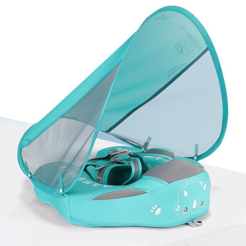 Chaleco salvavidas Boya Baby Swim Flotador Canopy Piscina Juguetes Juguetes No Inflables Sólido Sólido Friendly Friendly Natación Infantil Traisor Sombrilla