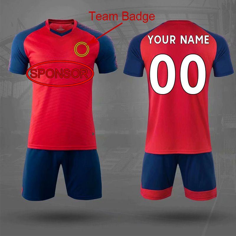 DIY Futebol Desgaste Personalizado Jersey Equipe Ordem do próprio logotipos Camisas de futebol Homens Mulheres Equipamento de crianças 003