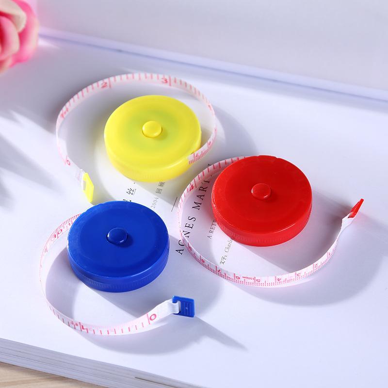 جديد 150 سنتيمتر / 60 بوصة قابل للسحب الشريط المحمولة الأطفال ارتفاع حاكم سنتيمتر بوصة لفة الشريط للخياطة القماش النظام الغذائي خياط EWA5134