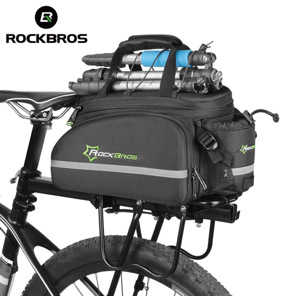 Rockbros Bicycle Carrier Bag MTB Fahrradträger Tasche Kofferraum Koffer Radfahren Multifunktionale Große Kapazität Reisetasche mit Regenschutz 201117