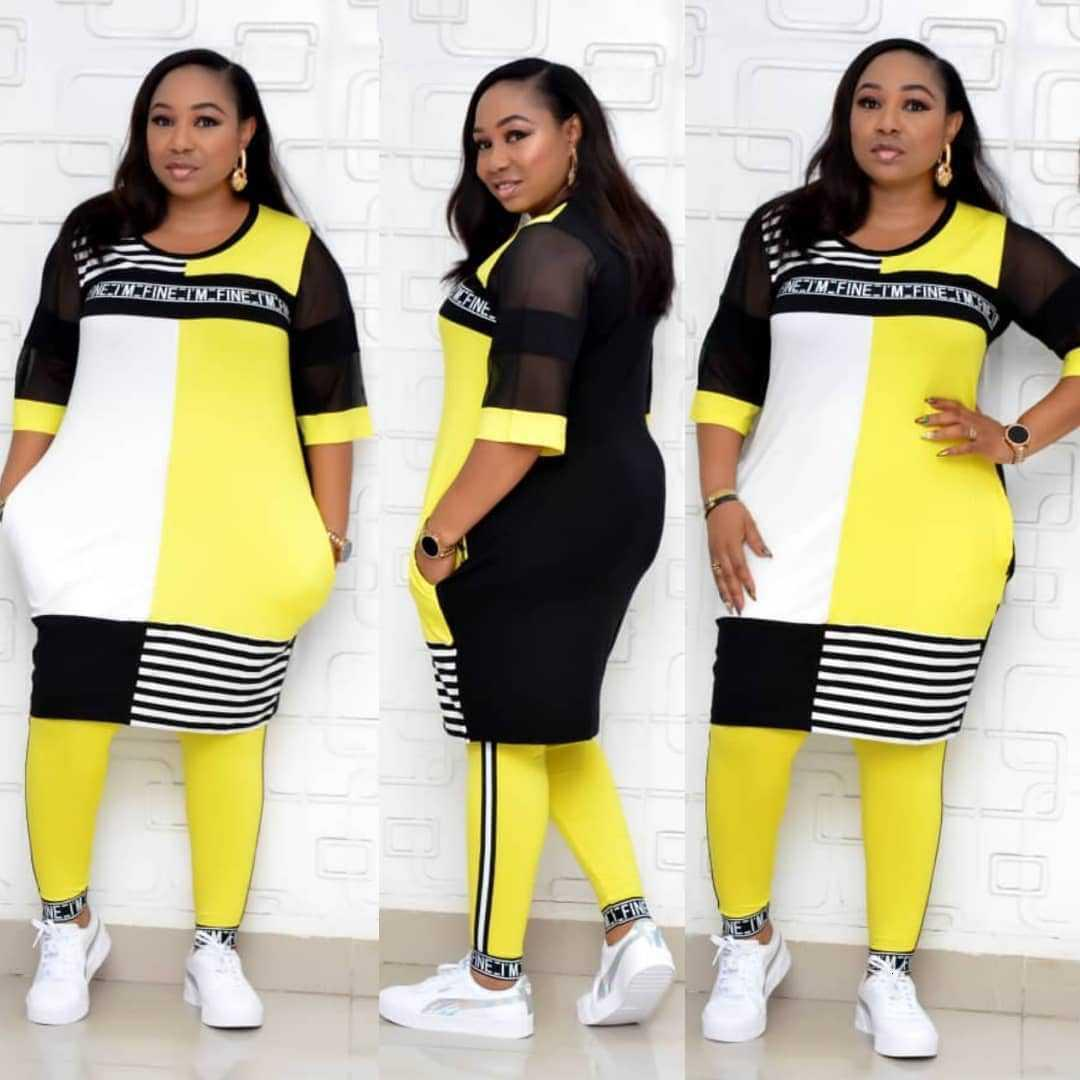 Chándal para mujer Nueva ropa africana Conjuntos de dos piezas Tops largos Pantalones flacos Pantalones a juego Conjunto de malla Patchwork Plus Tamaño Ropa de mujer