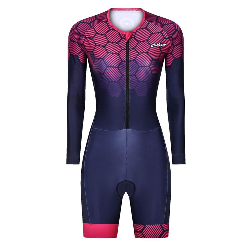 Racing Sets Ciclopp Jumpsuit Summer Women's Short-sleeved, Long-sleeved One-piece Suit Ropa Ciclismo Cycling Triathlon Running Swimsuit