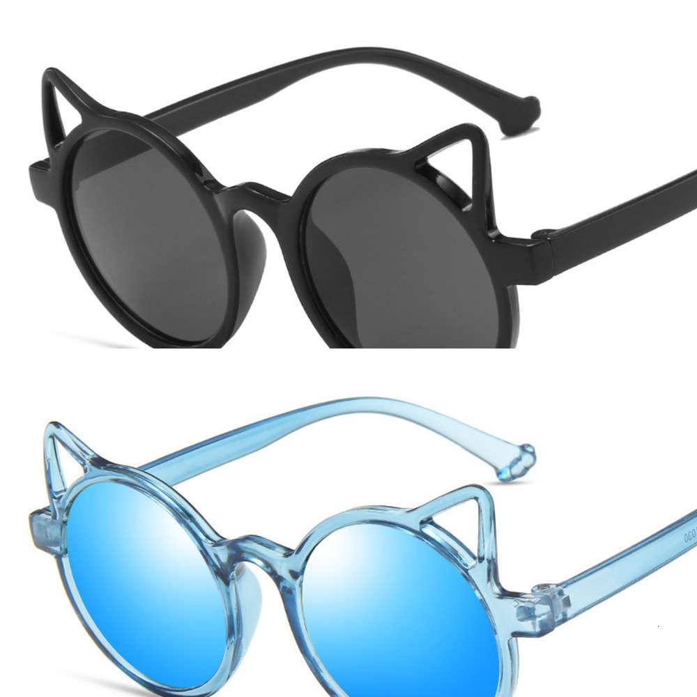 2021 moda crianças óculos de sol tendência personalidade gato orelha bebê adorável decorativo