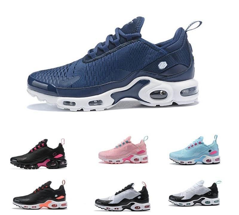 2021 Новые 27C TN PLUS Мужчины Женщины Открытый Обувь Мужская Женщина 27C Тройной Черный Белый Синий Кожаные Обувь Обувь Размер 36-45