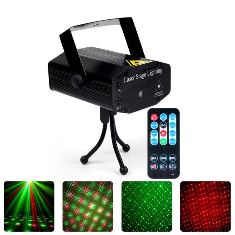 Mini IR Remote RG Galaxy Meteor Star Star Douche Laser Projecteur LUMIERE LUMIÈRE DSICO DJ DJ Fête de Noël Lampe de stroboscope