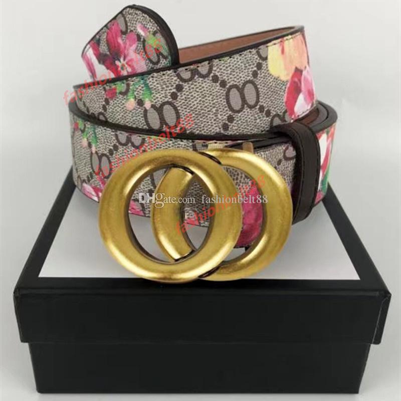 Designer Designer Cinture Lettera Fibbia Donne Donne Belt Cintura di Alta Qualità Genuine Cintura in pelle Ceinture LUXE Larghezza 3,8 cm con scatola