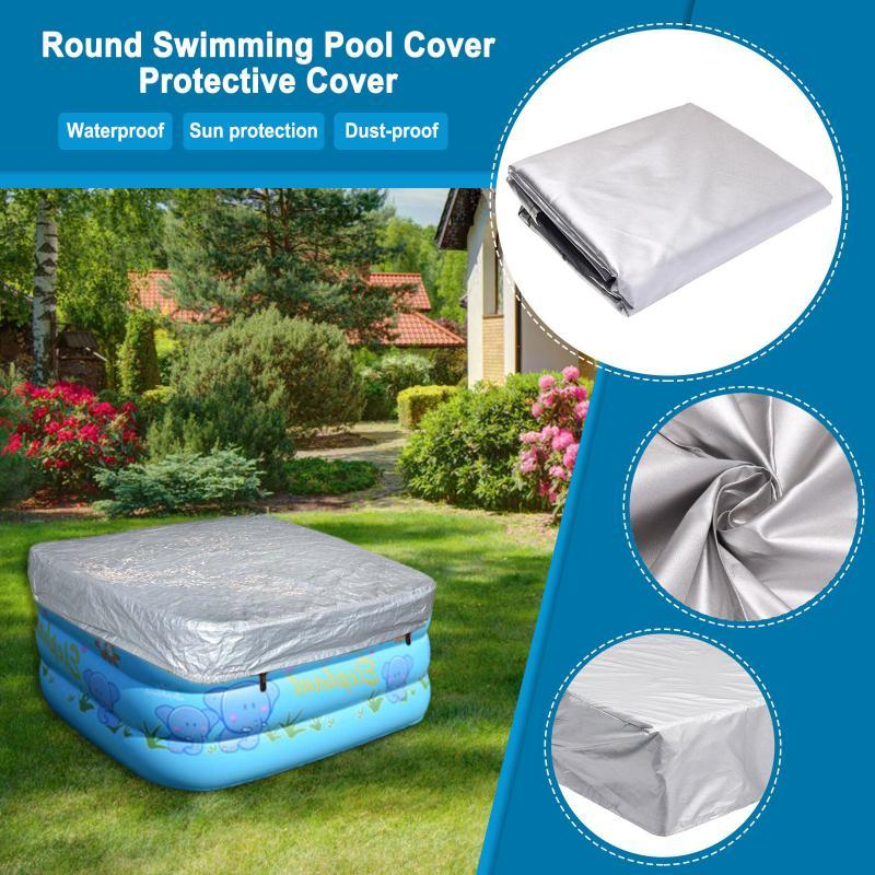 Pool & Accessories 2021 Spa Bathtub Swimming Waterproof Cover Outdoor Garden Courtyard Dust Anti-fall Leaves Uv And Rain #T3