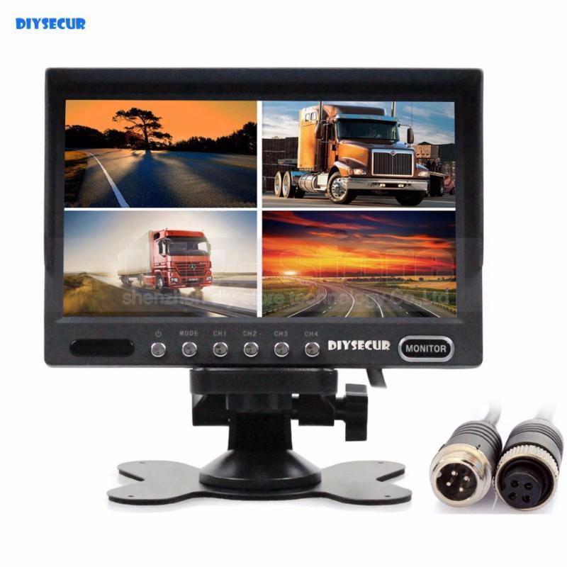 DC12V-24V 7inch 4 Split Quad Screen Display Cor Traseira Vista Monitor de Segurança de Vídeo para Sistemas de Câmera CCTV