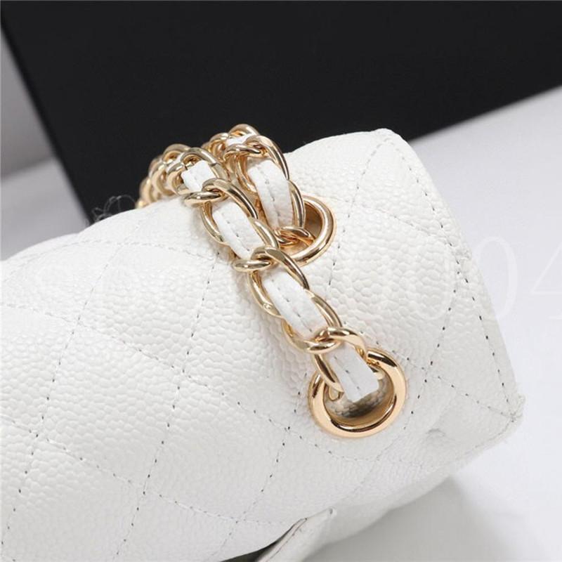 Хорошее качество Женщины роскоши дизайнерская сумка бренда моды кошелек мини классический оригинальный кожаный поперек сумочка икра текстур цепные клапаны пакеты