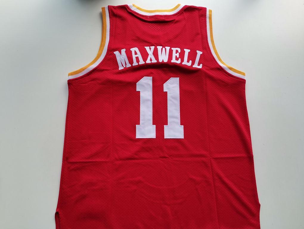 Benutzerdefinierte 604 Jugendfrauen Vintage # 11 Vernon Maxwell 1993-97 Basketball Jersey Größe S-4XL