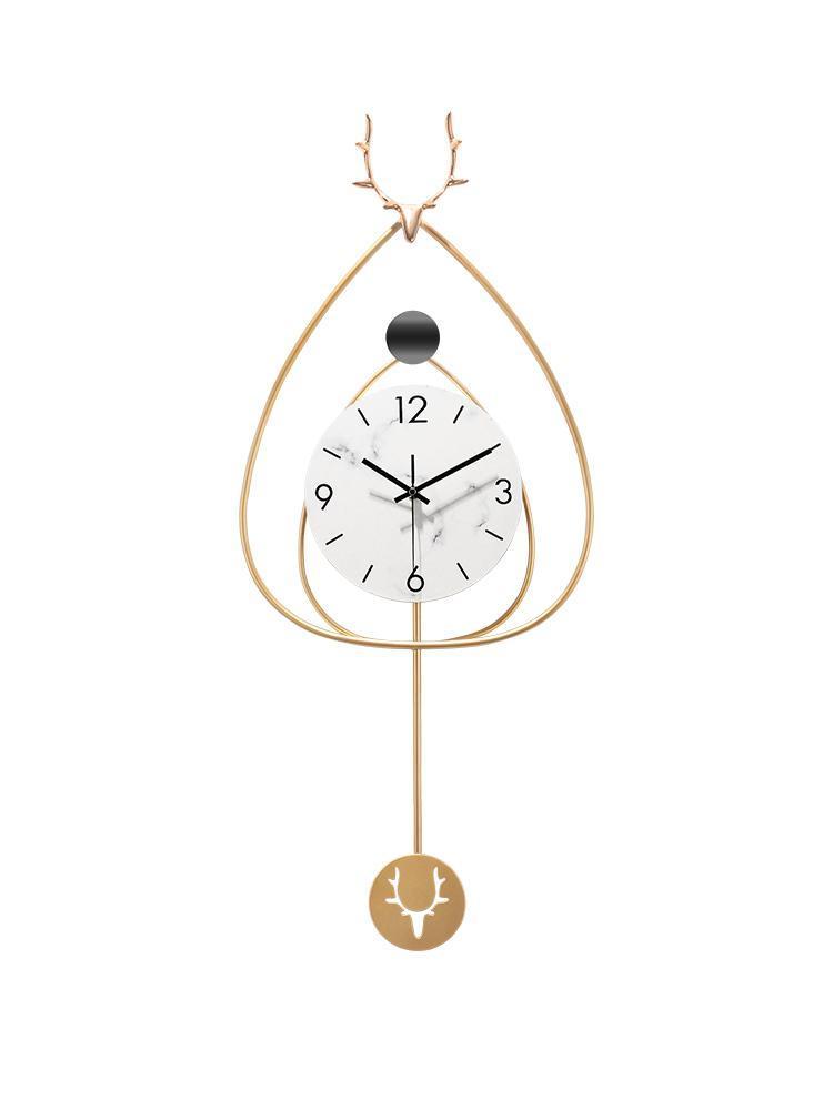 Duvar Saatleri Dekoratif Saat Nordic Tasarım Lüks Geometrik Endüstriyel Kişilik Horloge Home EC50BG