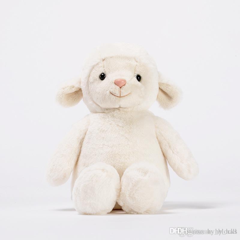 1 ADET 23 cm Sevimli Koyun Peluş Oyuncak Yumuşak Karikatür Hayvan Kuzu Dolması Bebek Llama Oyuncaklar Bebek Yastık Küçük Kızlar Doğum Günü Hediyesi