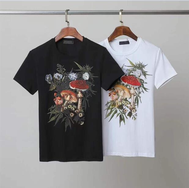 Erkek Moda Tişörtleri Tasarımcılar Erkekler T Gömlek Siyah Beyaz Tees Kısa Kollu kadın Rahat Hip Hop Streetwear T-Shirt ST2108