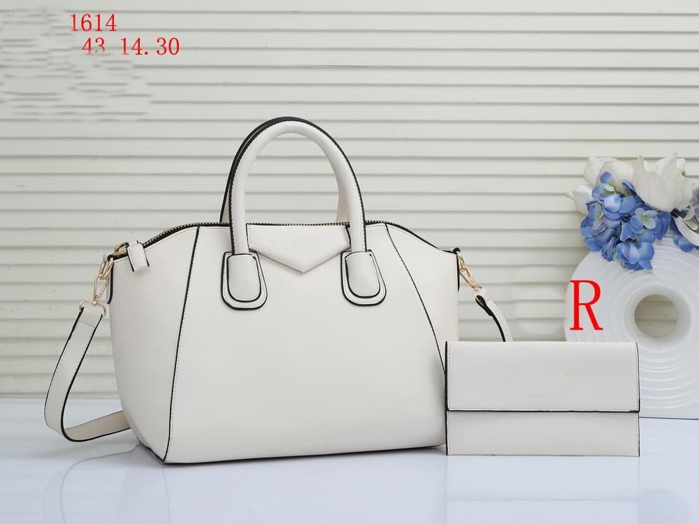 Bolsos de diseñador de moda Mensajero Mensajero Tote Cuero Crossbody Bolsa con billetera + Pequeñas bolsas de bolsas casuales 2pic / set