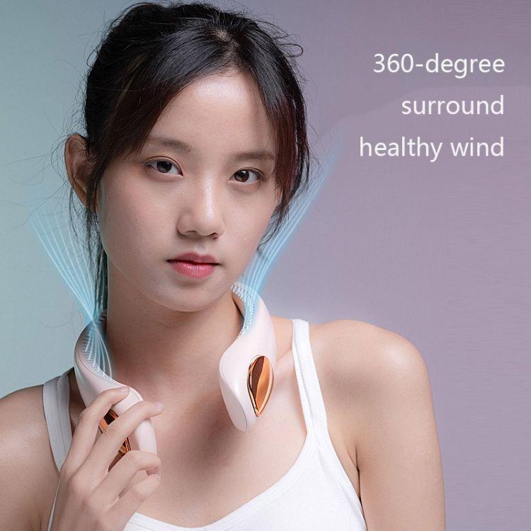 WS-33 Students Mini Bladeless Fan Neck Fan USB Rechargeable Fan Mute Sports Fans for Home Outdoor