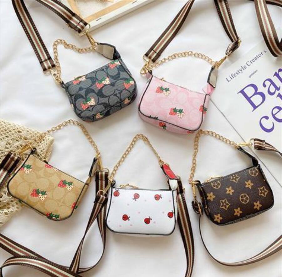 Mode Luxurys Designer Tasche Mädchen Plaid Square Schnalle Messenger Bag Kinder Einzelner Schulter Prinzessin Tasche Kinder Gitter Handtasche Münzbörse