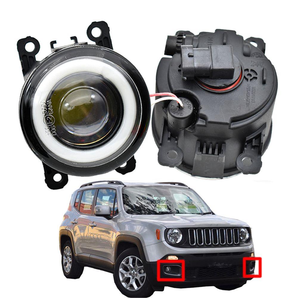 Nebelscheinwerfer für Jeep Renegade BU 2015-2018 2 x Autozubehör Hohe Qualität LED-DRL-Scheinwerferlampe