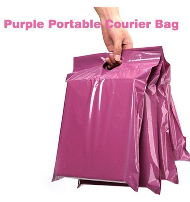 50 teile / los Purpurrote Einkaufstasche Express Tasche Kurier Taschen Selbstdichtung Klebstoff Dicke Wasserdichte Kunststoff Polyumhülle Mailing Taschen Afj
