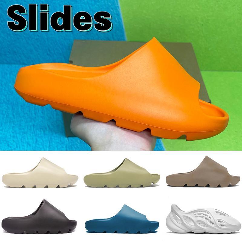 Dernières diapositives Chaussures de glissière Application Enflamme Orange Bone Résine Sand Sand Terre Brown Ararat Men Femmes Sandales avec boîte