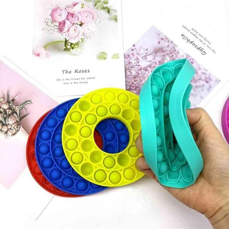 Дети нажимают пузырь Fidget Sensory Toy играют вместе, чтобы снять беспокойство для детей семьи и друга аутизма специальные нужды G22201