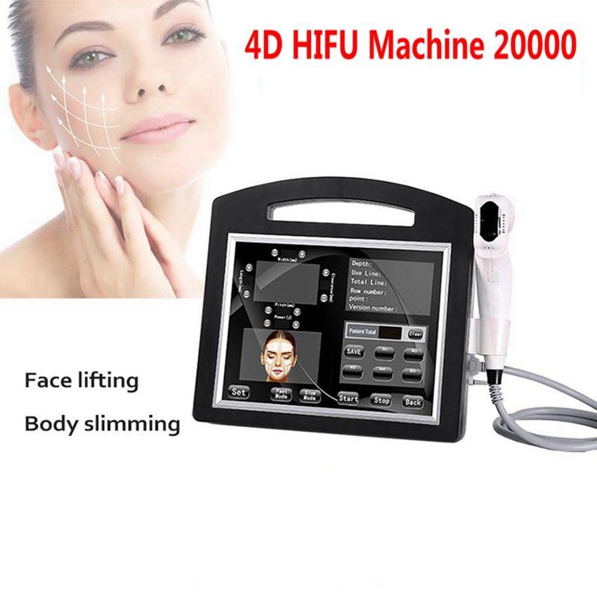 Professional 3D 4D Hifu Machine 20000 Снимки Высокая интенсивность Сосредоточенное ультразвуковое лицо Подъемник Удаление морщин Удаление кожи Утяжению Тело для похудения Красота