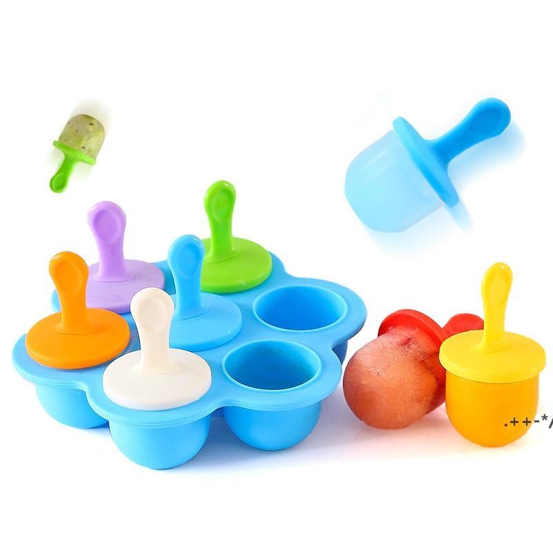 Eisdiener DIY-Formwerkzeuge Silikon-Stielzeugform, Eis-Pop-Formen, Lagerbehälter für hausgemachte Lebensmittel FWE5616