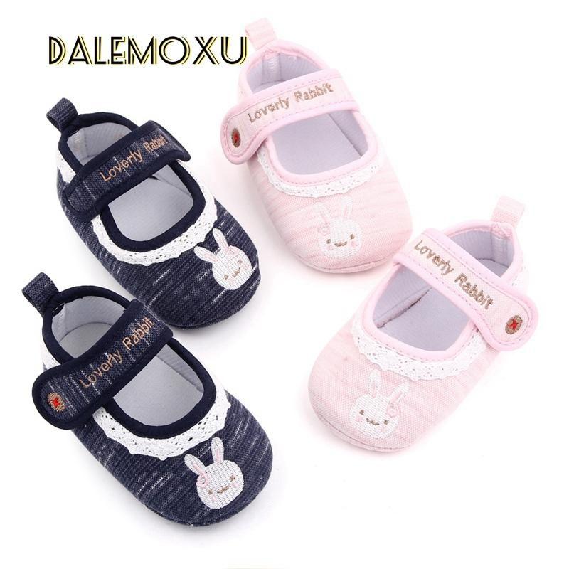 Baby 0-18m Prinzessin geborene Säuglingsmädchen Schuhe Kausal Baumwollfoke Anti-Rutsch-Schuhe Kleinkind-Krippe Prewalker Athletic Outdoor