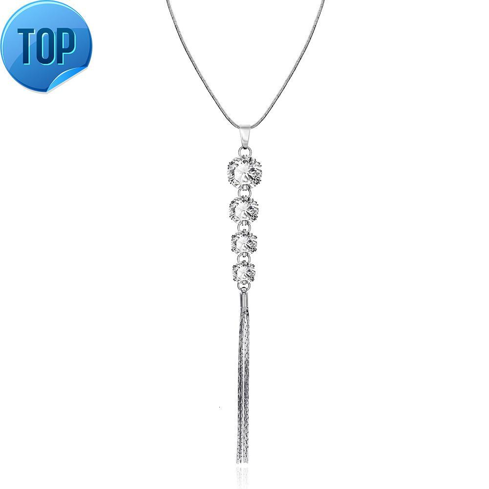 Accessori per il commercio estero pendente in vetro moda popolare collana di perle popolare gioielli europei e americani all'ingrosso FSN115-A Platinum FSN115