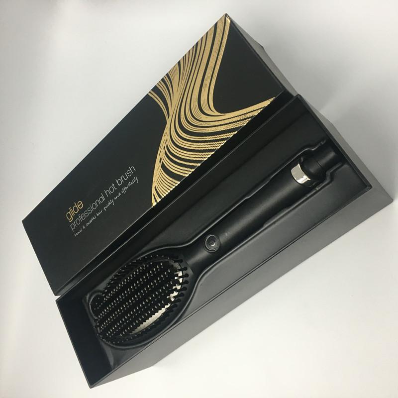 2021 Glide Hot Hair Brush Brush Asciugacapelli Styler Volumizer Multi- Spazzola per capelli ricci raddrizzatura con ioni negativi