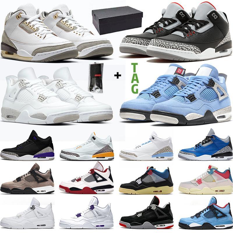 retro 3 basketball shoes Scarpe da basket da uomo Jumpman Sneakers da donna Nero Cemento UNC 4s Neon White Cement 5s Grape 11s Bred 12s University