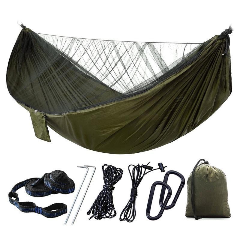 Camping Hängematte Moskitonetz Tragbare Nylon Regen Baum Riemen zum Wandern Survival Travel Braid Line