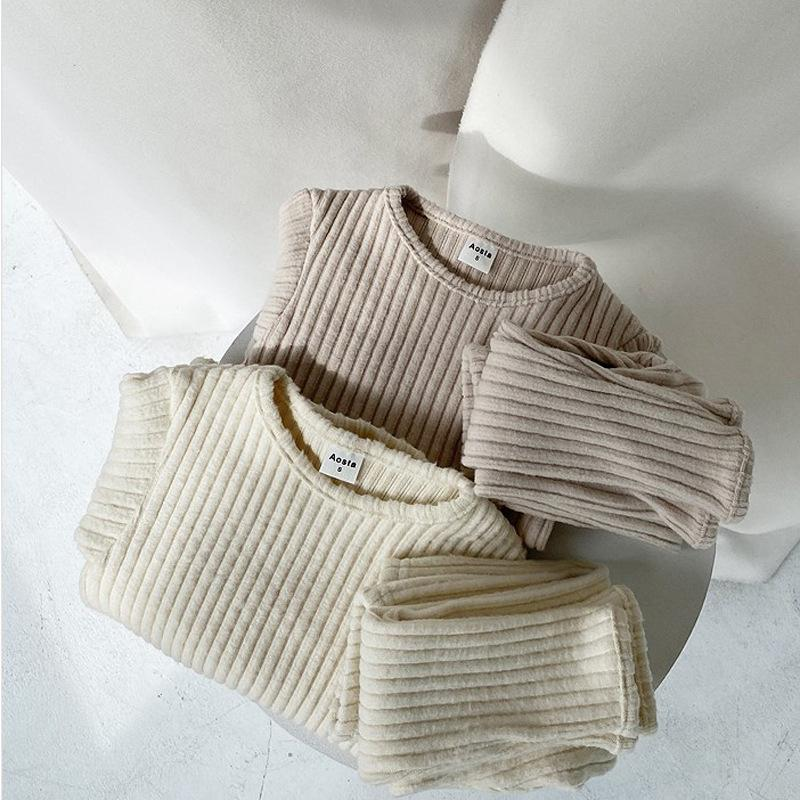 Otoño invierno bebé niños y niñas ropa fijada suéter de la parte superior camisas y pantalones traje ropa para niños 2 pieza Set 951 y2