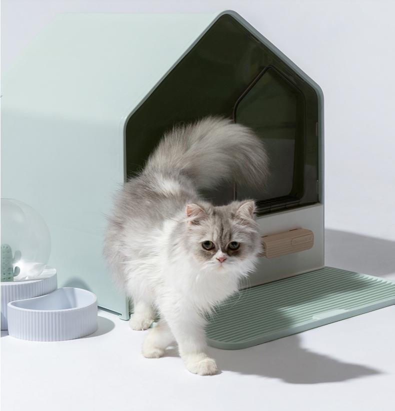 Diğer Kedi Malzemeleri Basit Tamamen Kapalı Buzlu Işıklık Büyük Uzay Anti Koku ve Sıçrama Çekmece Tipi PP Lavabo Pet