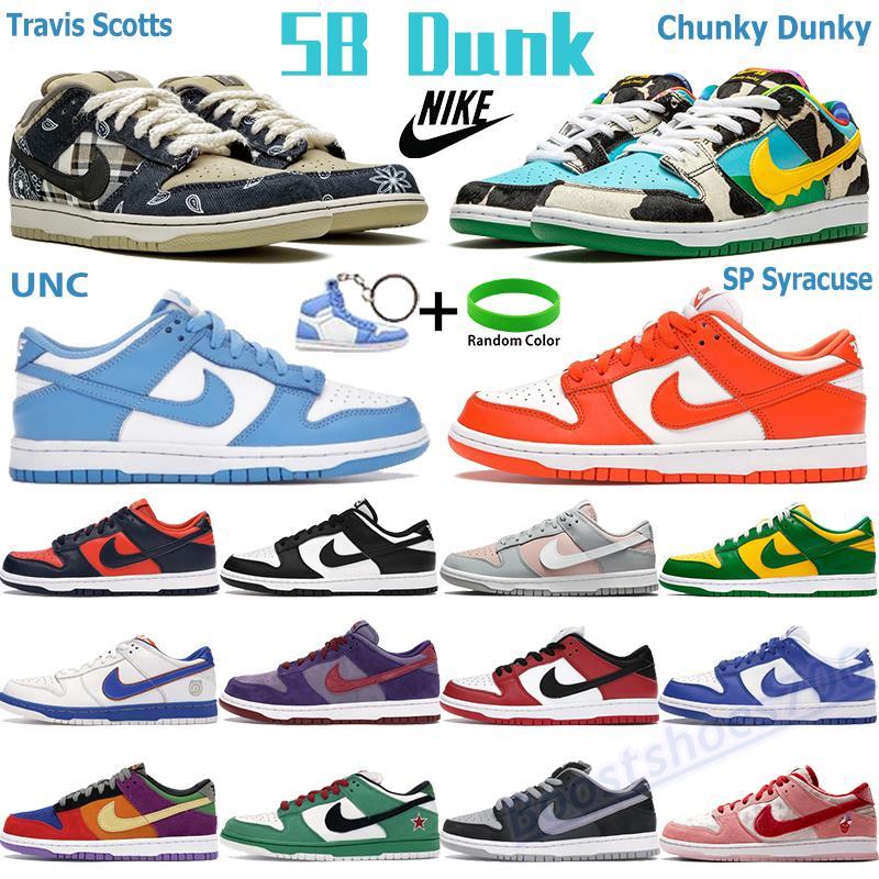 نايك دونك SB ترافيس سكوت مكتنزة رجالي منخفضة كرة السلة أحذية UNC Sp Syracuse أبيض أسود المدربين كنتاكي كوست شيكاغو عيد الفصح الليزر الرجال أحذية رياضية
