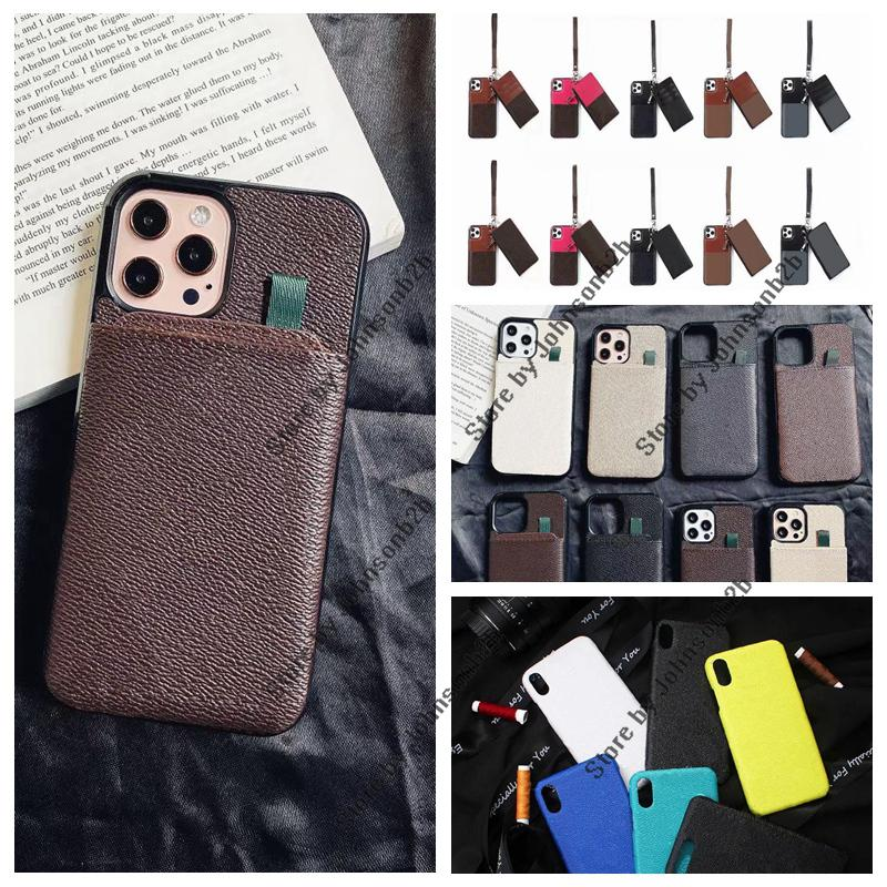 Fashion Leather Designer Card Wallet Phone Cases for iphone 13 12 11 Pro Max 13pro 12pro 11Pro XR XSMax 7 8 plus Samsung Available all with original box packing Case