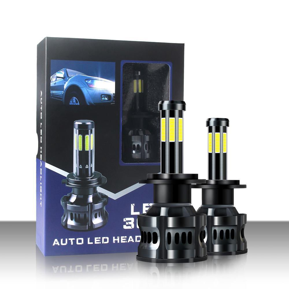 X8 8 Sides Car LED Headlight 10000ML Super Brightness Bulb 3000K 6000K 8000K Lamp H7 H4 H1 H3 880 Auto Led Lighting Modify Accessories