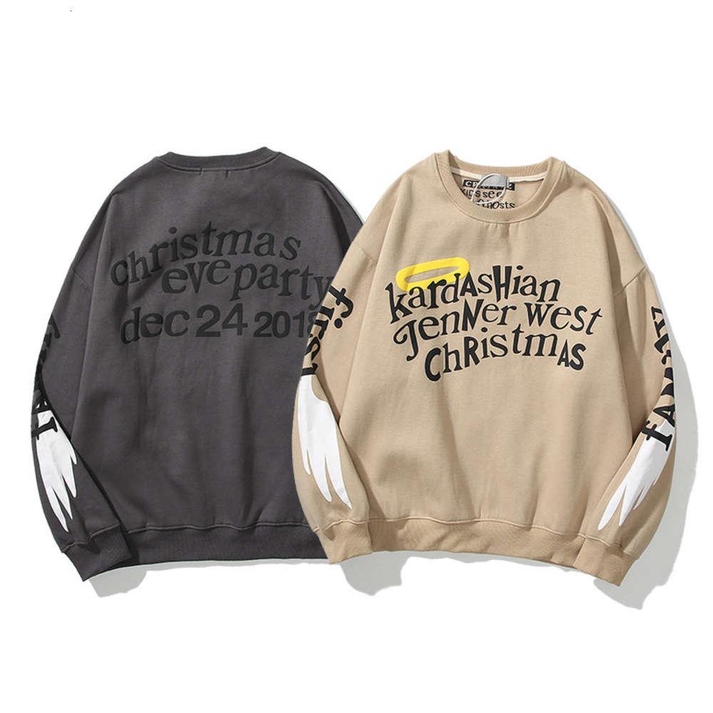Hohe Qualität 1: 1 Hoodie Street Mode Kanye West Co Markened Angel Wings Liebhaber Rundhals Pullover Männer und Frauen