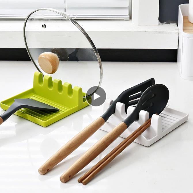 Kochhalter Utensilien Rest Küchenorganisator und Lagerung mit Tropf Gabel Löffel Rutschfeste Pad Zubehör